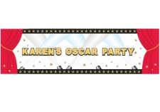 Vista frontal de mural personalizable de Hollywood Star en stock