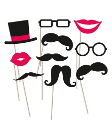 Kit para photocall Moustache - 10 unidades