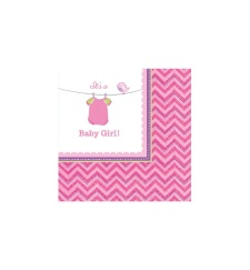 Servilletas de Pink Baby Party 25x25 - 16 unidades