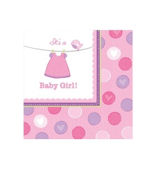 Servilletas de Pink Baby Party 33x33 - 16 unidades