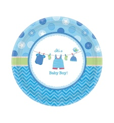 Vista principal de platos de Blue Baby Party 27 cm - 8 unidades en stock