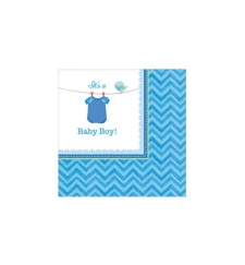 Servilletas de Blue Baby Party 25x25 - 16 unidades