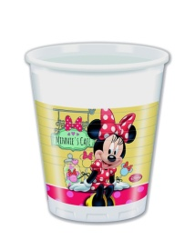 Vista frontal de vasos de Minnie Mouse 200 ml - 8 unidades en stock