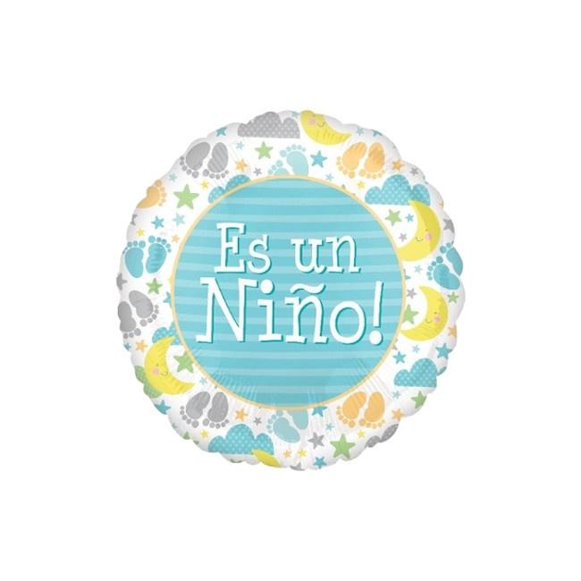 Globo Redondo Baby Shower Nino 43 Cm