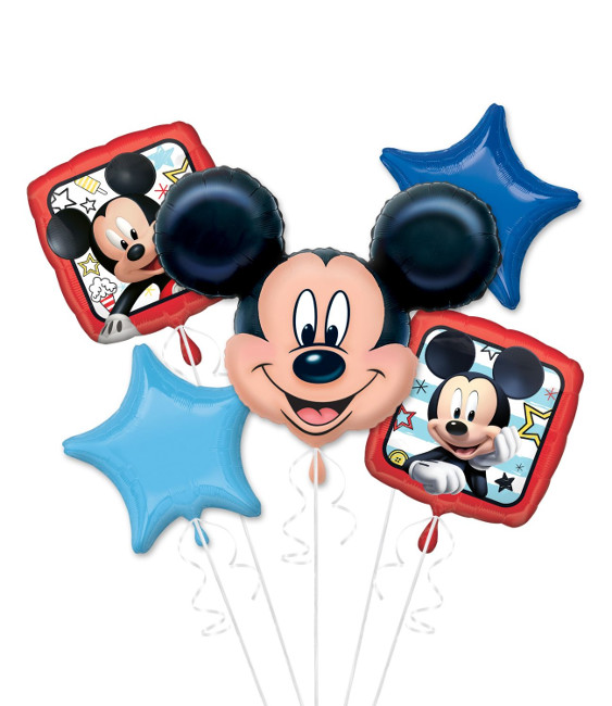 Vista frontal del bouquet de Mickey Mouse - Anagram - 5 unidades en stock