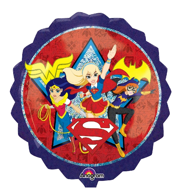 Vista delantera del globo silueta XL de Super Hero Girls - 71 cm