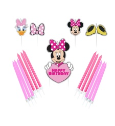 Velas de Minnie Mouse - 17 unidades