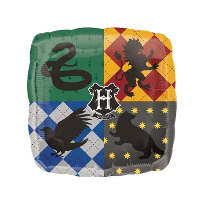 Vista frontal del globo cuadrado de Harry Potter - 43 cm en stock