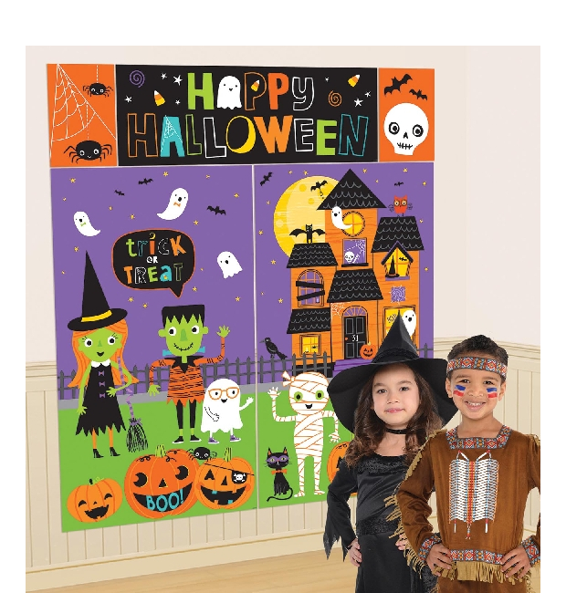 Vista principal del mural decorativo de Happy Halloween en stock