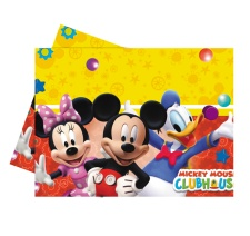 Vista frontal de mantel de Mickey Mouse en stock
