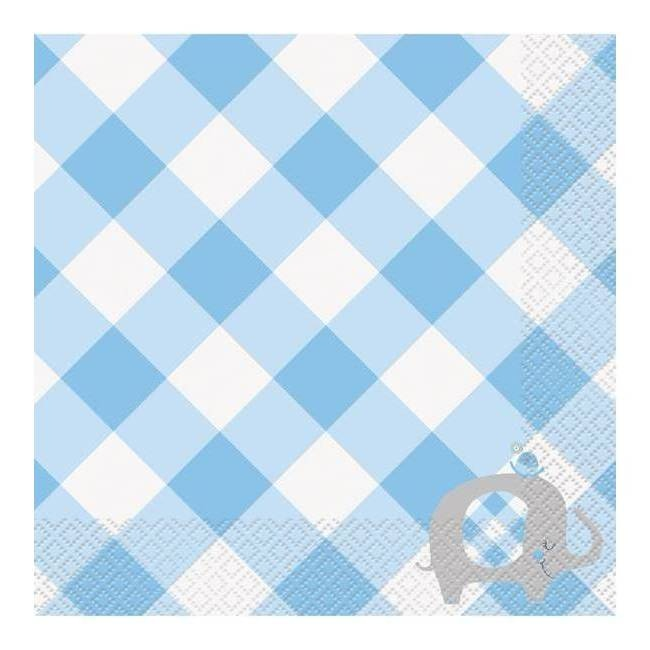 Vista principal del servilletas Blue Elephant Party de 33 x 33 cm - 16 unidades en stock