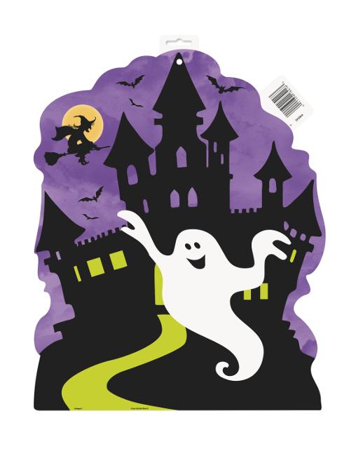Decoracin infantil para Halloween de castillo encantado