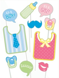 Kit para photocall para fiesta Baby Shower - 10 unidades