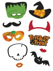 Kit para photocall monstruos de Halloween - 10 unidades