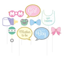 Kit para photocall para Baby Shower - 10 unidades