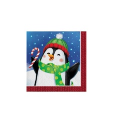Servilletas de Winter fun de 25 x 25 cm - 16 unidades