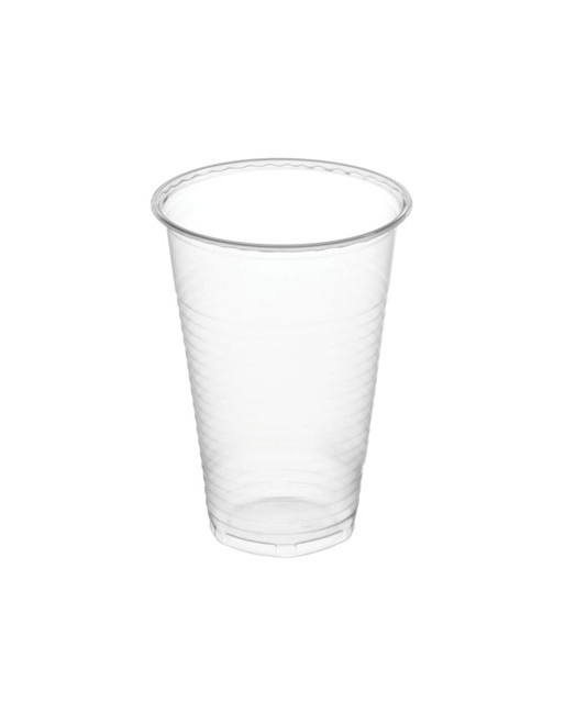 Vista frontal del vasos transparentes de 200 ml - 50 unidades en stock