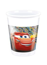 Vasos de Cars 200 ml - 8 unidades