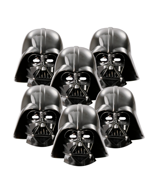 Vista frontal del caretas de Star Wars Darth Vader - 6 unidades en stock