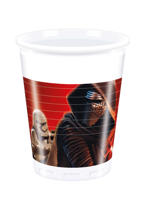 Vista frontal del vasos de Star Wars de 200 ml - 8 unidades en stock