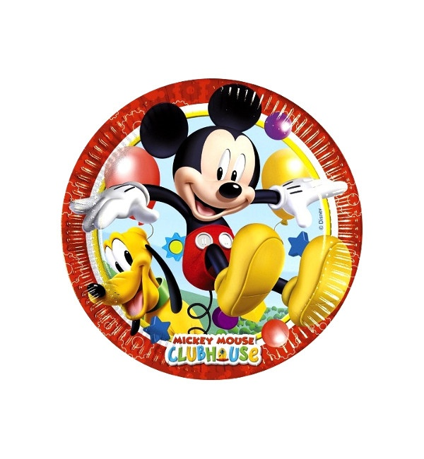 Vista frontal del platos de Mickey Mouse de 23 cm - 8 unidades en stock