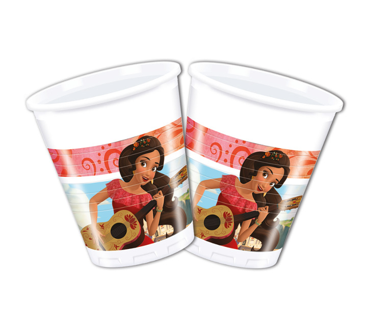 Vista frontal del vasos de Elena de Avalor de 200 ml - 8 unidades en stock