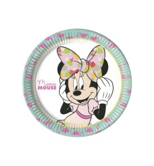 Platos de Minnie Tropical de 23 cm - 8 unidades