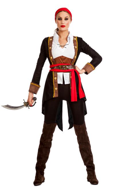 Vista principal del disfraz de pirata elegante disponible también en talla  XL b2bc6a83623