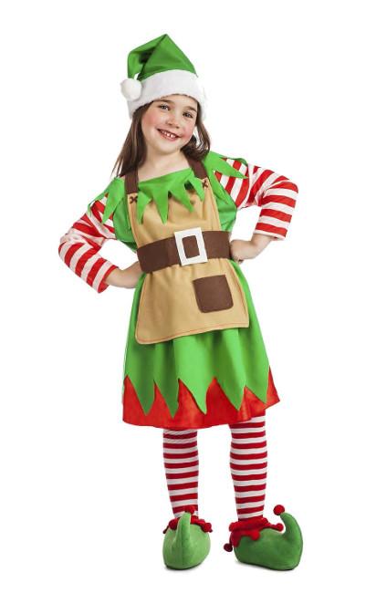 Disfraz de elfo navide o para ni a barato - Disfraces navidenos para ninas ...