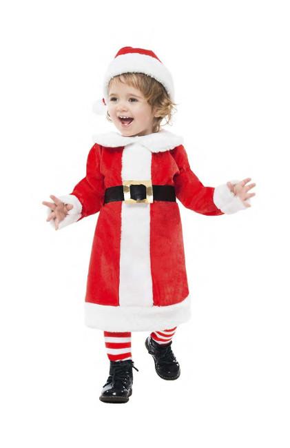 Disfraz De Papa Noel Elegante Para Bebe Nina Por 13 - Bebes-vestidos-de-papa-noel