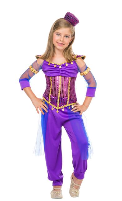 0bf9d50d4 Disfraz de princesa árabe morado para niña
