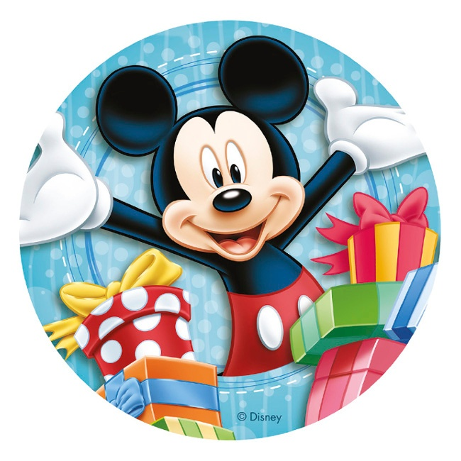 Vista frontal del papel de azúcar de Mickey & Friends - 20 cm en stock