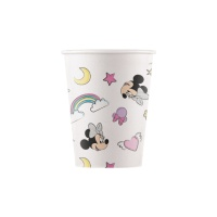 Vasos de Minnie Unicornio compostables de 200 ml  - 8 unidades