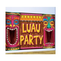 Mural de Luau Party Hawaiano - 75 x 120 cm