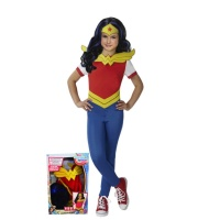 Disfraz de Wonder Woman de Super Hero Girls para niña