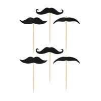 Picks de moustache - 20 unidades