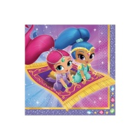 Servilletas de Shimmer and Shine de 33 x 33 cm - 16 unidades