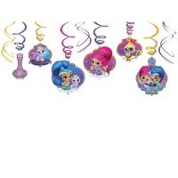 Colgantes decorativos de Shimmer and Shine - 12 unidades