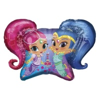 Globo silueta XL de Shimmer and Shine - 78 x 55 cm