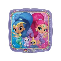 Globo cuadrado de Shimmer and Shine - 43 cm