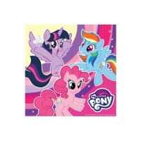 Servilletas de My Little Pony de 33 x 33 cm - 20 unidades