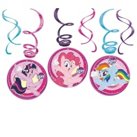 Colgantes decorativos de My Little Pony de 60 cm - 6 unidades