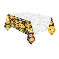 Mantel de Emoticonos LOL - 1,37 x 2,43 m