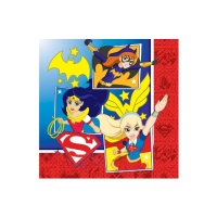 Servilletas de Super Hero Girls de 33 x 33 cm - 16 unidades
