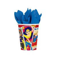 Vasos de Super Hero Girls de 266 ml - 8 unidades