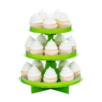 Stand para cupcakes verde