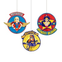 Colgantes decorativos de nido de Super Hero Girls - 3 unidades