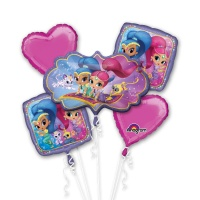 Bouquet de Shimmer and Shine - 5 unidades