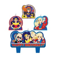 Velas de Super Hero Girls - 4 unidades