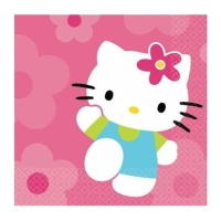 Servilletas de Hello Kitty de 33 x 33 cm -16 unidades